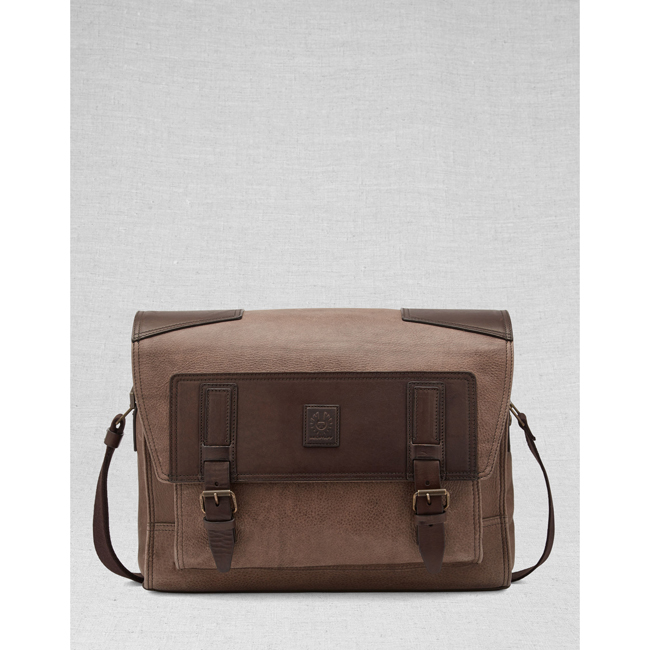 Belstaff CITYMASTERESSENGER BAG Men  ASH Outlet Store