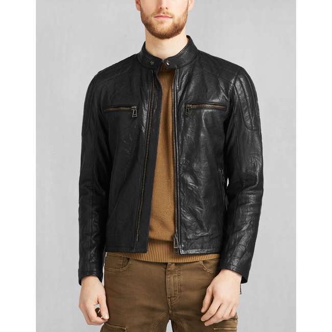 Belstaff ARCHER BIKER JACKET Men BLACK Outlet Store