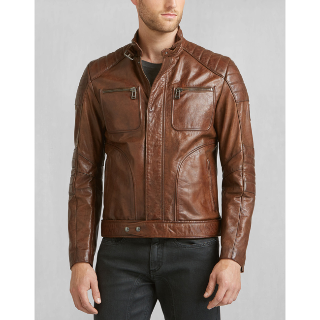 Belstaff WEYBRIDGE JACKET Men COGNAC Outlet Store