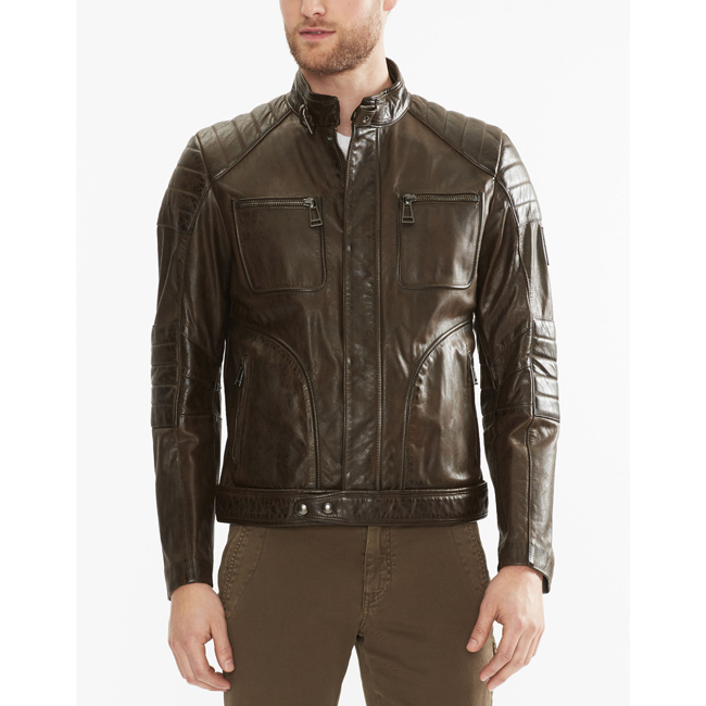 Belstaff WEYBRIDGE JACKET Men  BLACK/BROWN Outlet Store