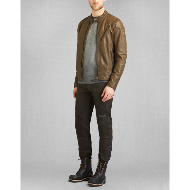 Belstaff MAXFORD BLOUSON JACKET Men PALE MILITARY Outlet Store
