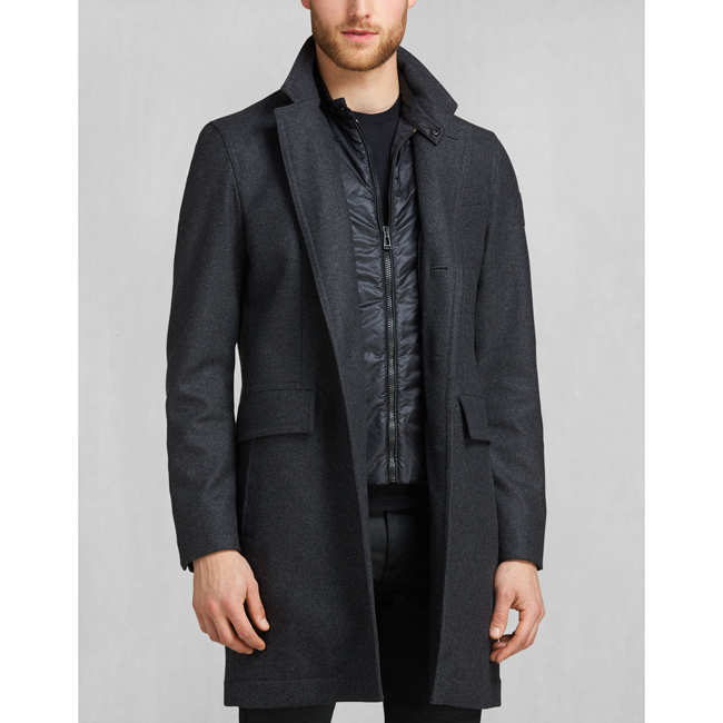 Belstaff BRADBOURNE COAT Men CHARCOAL MELANGE Outlet Store