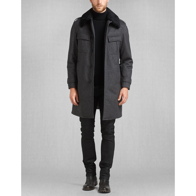 Belstaff FALKENHAM COAT Men CHARCOAL Outlet Store