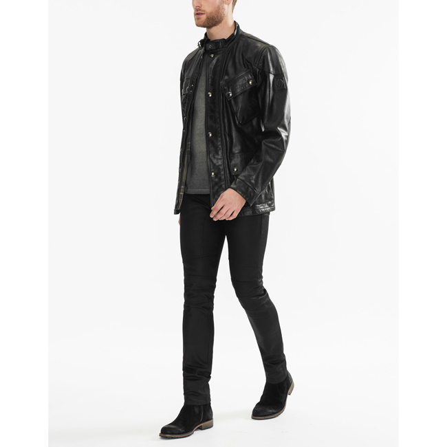 Belstaff THE PANTHER JACKET Men BLACK Outlet Store