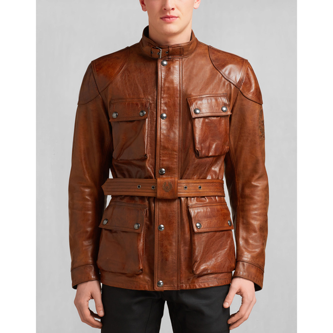 Belstaff CLASSIC TOURIST TROPHY JACKET Men BURNT CUERO Outlet Store