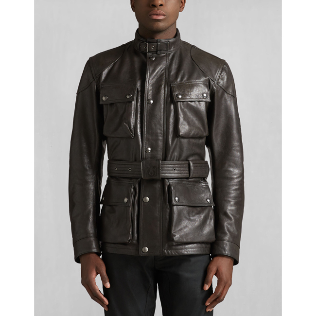 Belstaff CLASSIC TOURIST TROPHY JACKET Men ANTIQUE BLACK Outlet Store