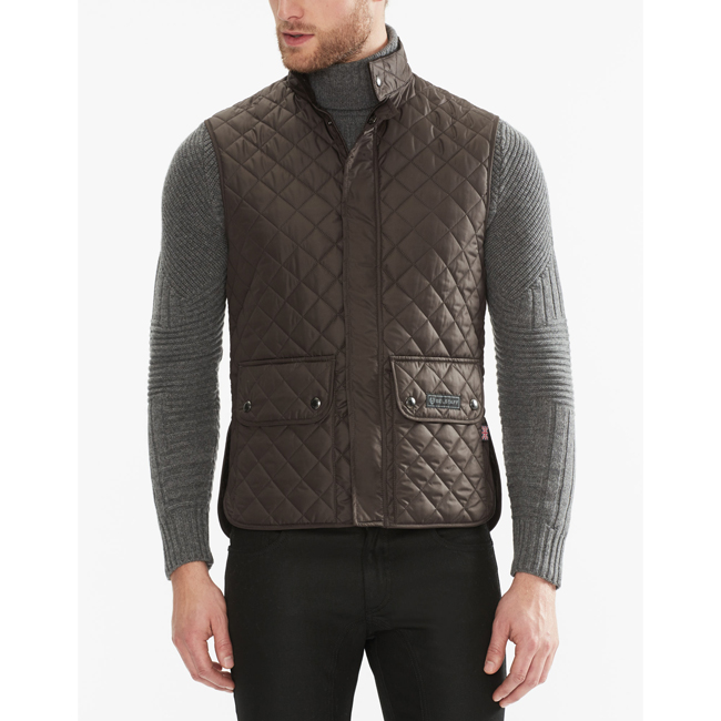 Belstaff QUILTED WAISTCOAT Men MAHOGANY Outlet Store