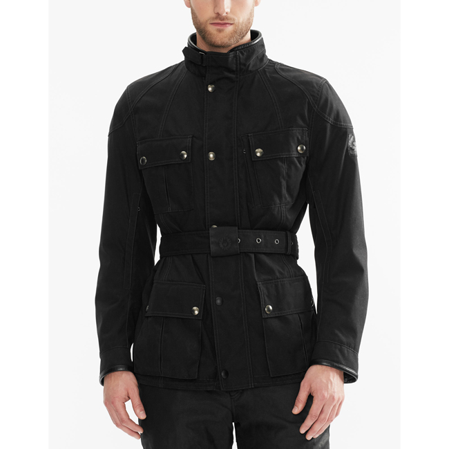 Belstaff SNAEFELL MOTORCYCLE JACKET Men BLACK Outlet Store