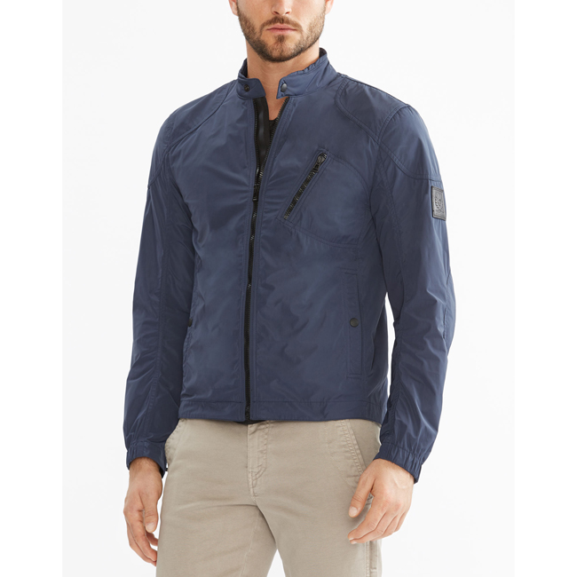 Belstaff STAPLEFORD BLOUSON JACKET Men NAVY BLUE Outlet Store