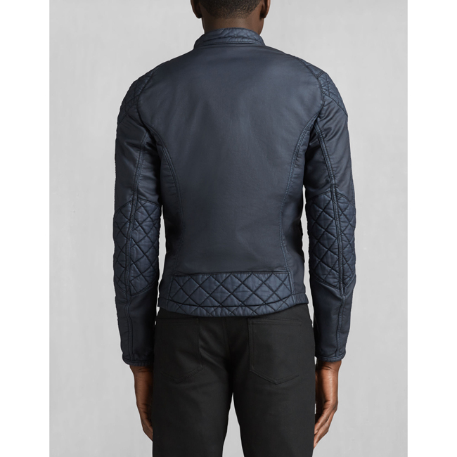 Belstaff XMAN RACING BLOUSON Men DENIM BLUE Outlet Store