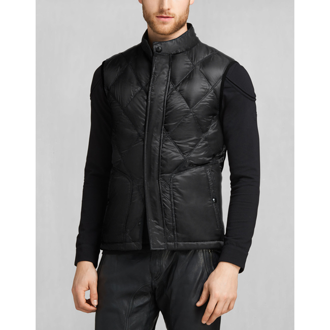 Belstaff WATKIN DOWN GILET Men BLACK Outlet Store