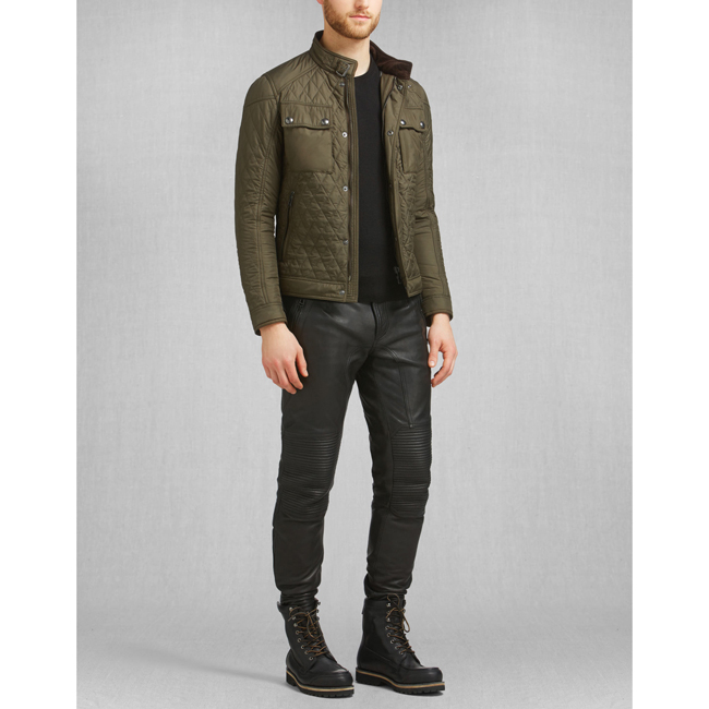 Belstaff RACEMASTER QUILT BLOUSON Men FADED OLIVE Outlet Store