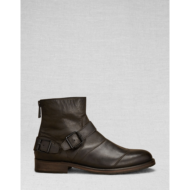 Belstaff TRIALMASTER SHORT BOOT Men  BLACK Outlet Store