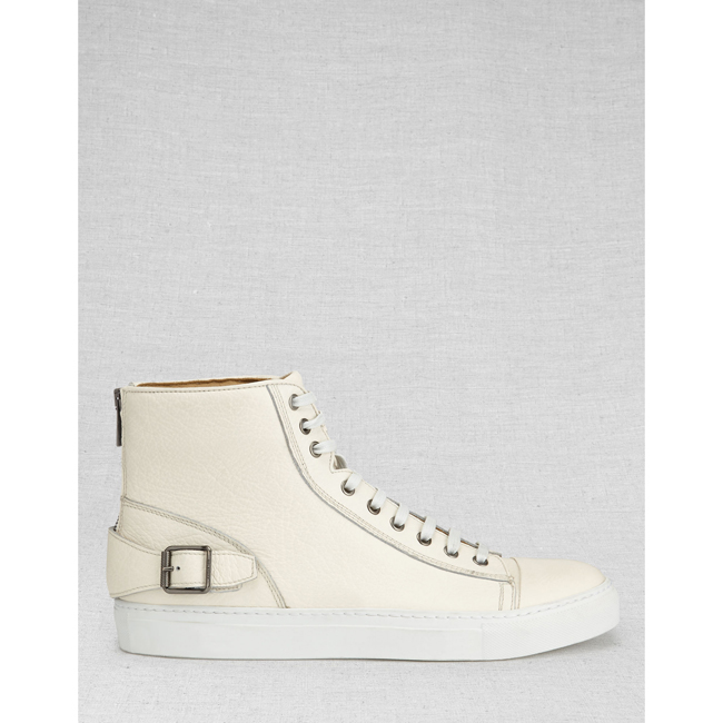Belstaff BOROUGH HIGH-TOP SNEAKERS Men OFF WHITE Outlet Store