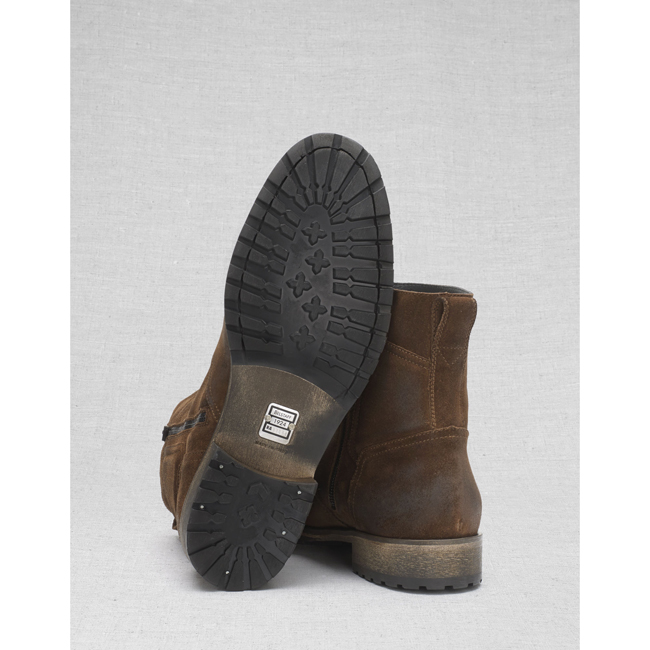 Belstaff ATTWELL SHORT BOOTS Men OAK BROWN Outlet Store