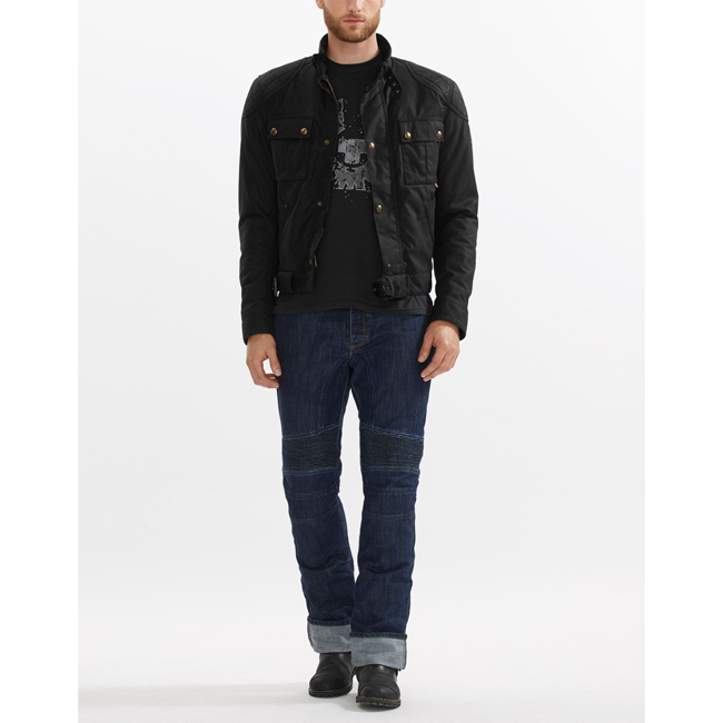 Belstaff BROOKLANDS BLOUSON Men BLACK Outlet Store