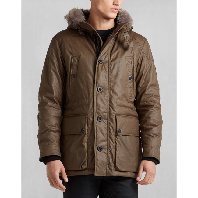 Belstaff PATHFINDER JACKET WITH FUR Men WINDSOR MOSS Outlet Store