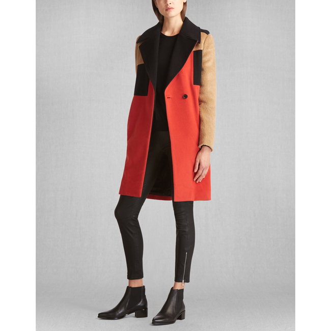 Belstaff ROLLINS COAT Women CORAL RED Outlet Store