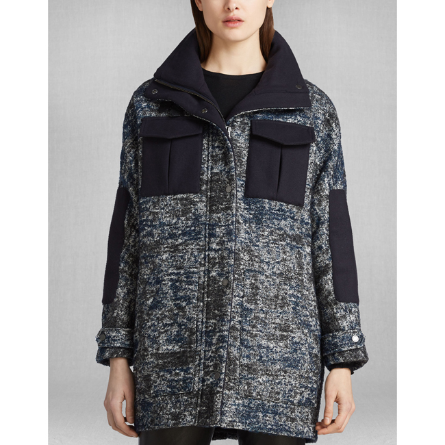 Belstaff ODELL COAT Women BLACK/BLUE Outlet Store
