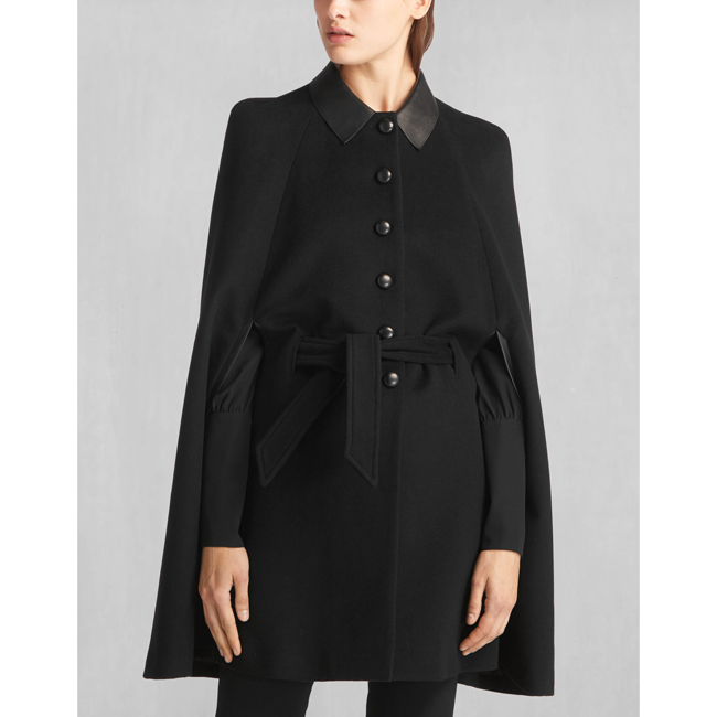 Belstaff LIV TYLER MARLEY CAPE Women BLACK Outlet Store