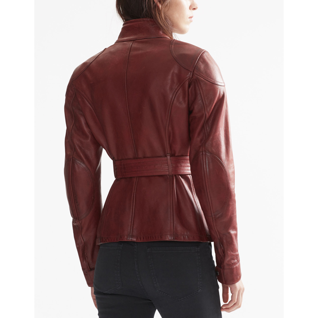 Belstaff CLASSIC TOURIST TROPHY JACKET Women BURNISHED RED Outlet Store