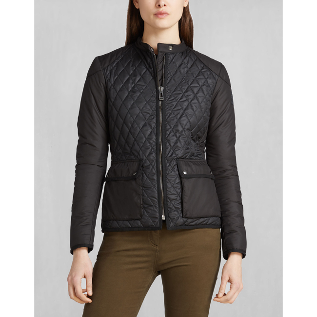 Belstaff RANDALL QUILTED JACKET Women BLACK Outlet Store