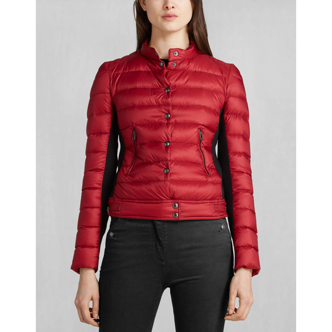 Belstaff SILVERTHORN DOWN JACKET Women RACING RED Outlet Store