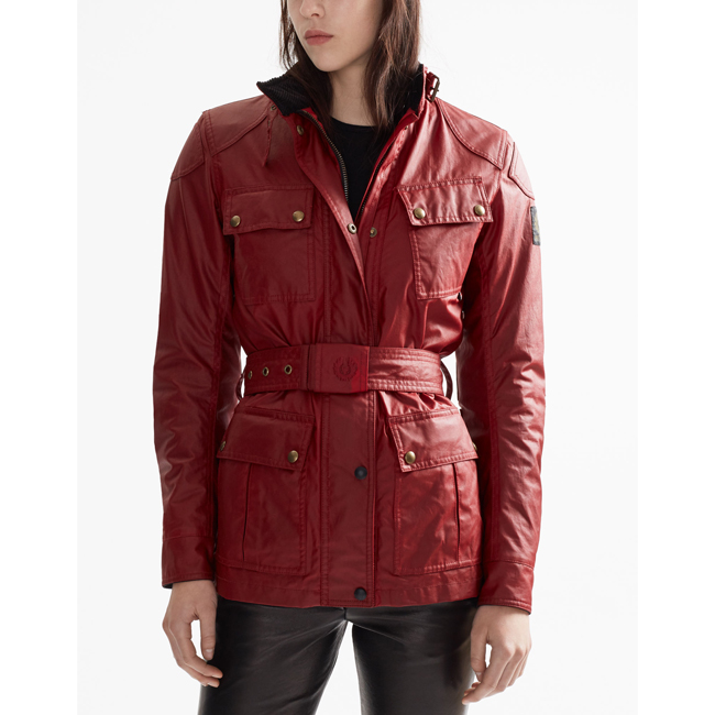 Belstaff CLASSIC TOURIST TROPHY 4-POCKET MOTORCYCLE JACKET Women  RACING RED Outlet Store