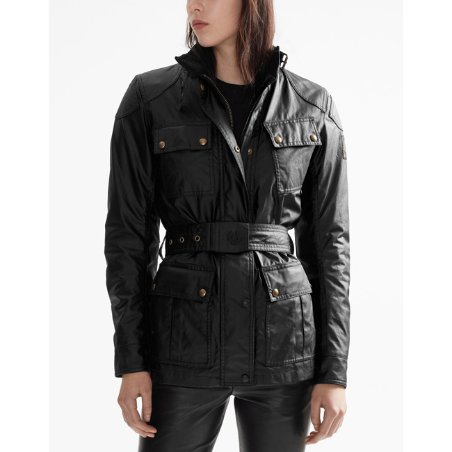 Belstaff CLASSIC TOURIST TROPHY 4-POCKET MOTORCYCLE JACKET Women BLACK Outlet Store