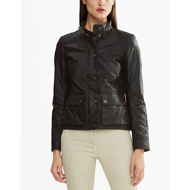 Belstaff LONGHAM JACKET Women BLACK Outlet Store