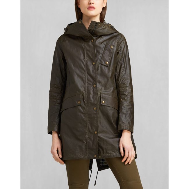 Belstaff PAYNE PARKA Women FADED OLIVE Outlet Store