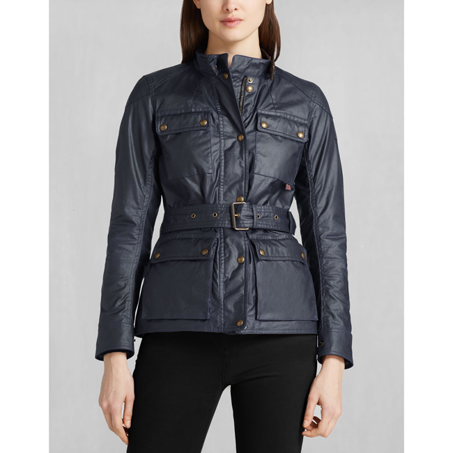 Belstaff ROADMASTER JACKET Women NAVY BLUE Outlet Store