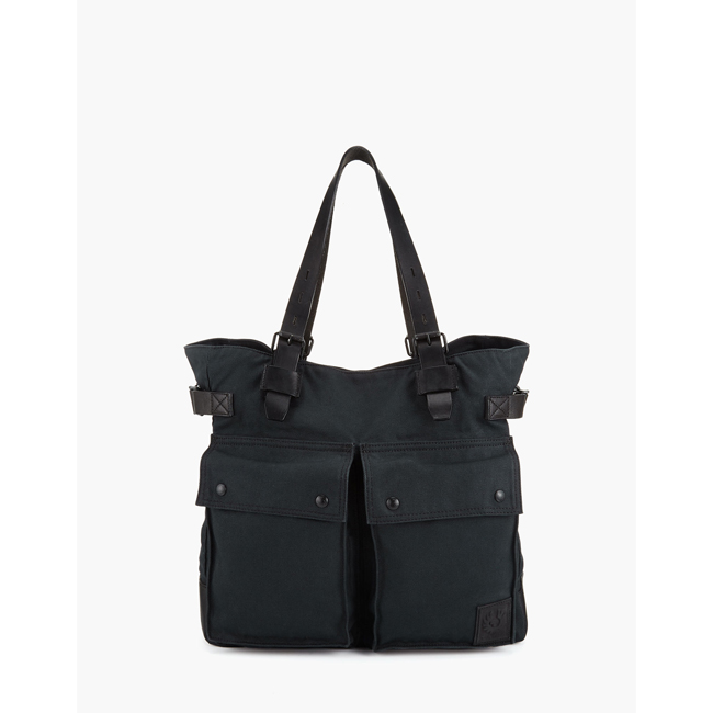 Belstaff COLONIAL MESSENGER SHOULDER BAG Men BLACK Outlet Store