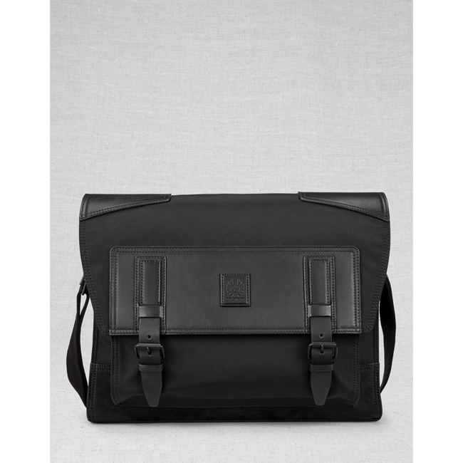 Belstaff ROADMASTER MESSENGER BAG Men BLACK Outlet Store