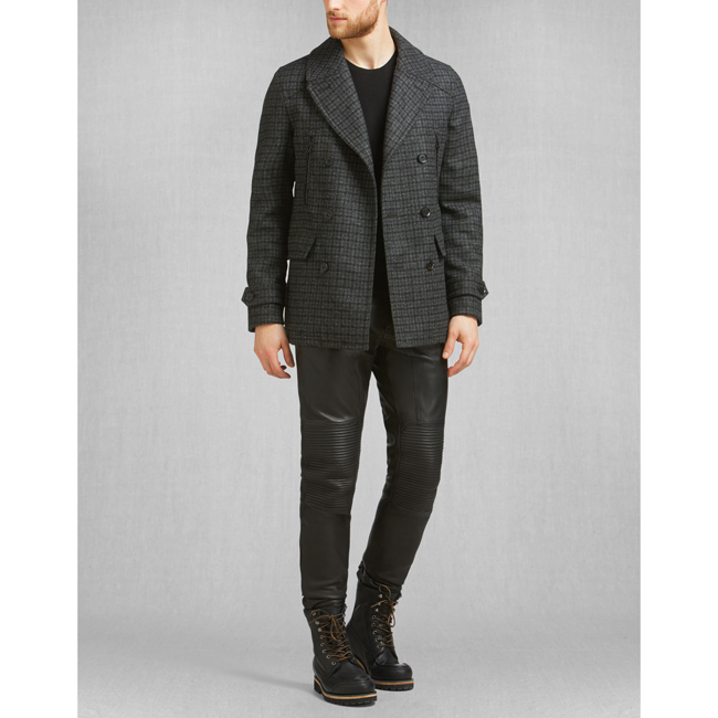 Belstaff CORRINGHAM PEACOAT Men CHARCOAL Outlet Store