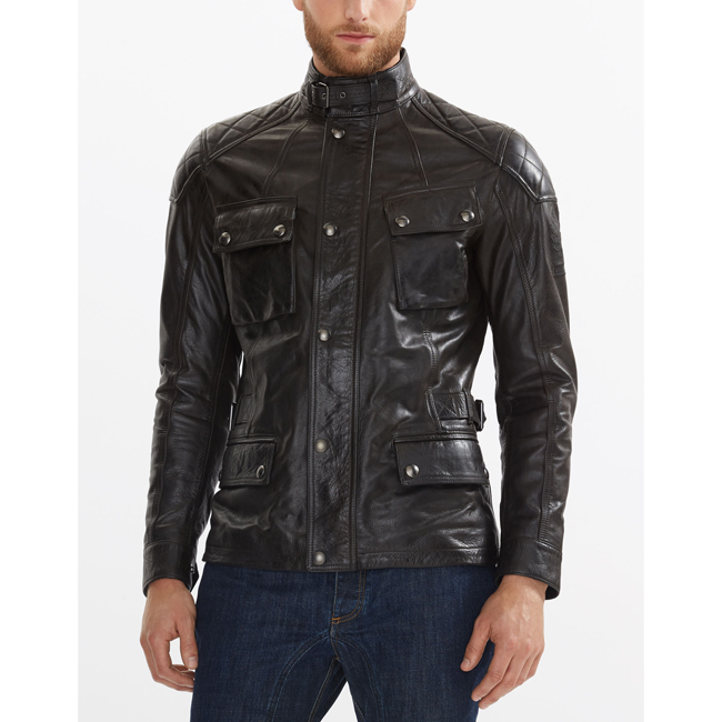 Belstaff TURNER JACKET Men ANTIQUE BLACK Outlet Store