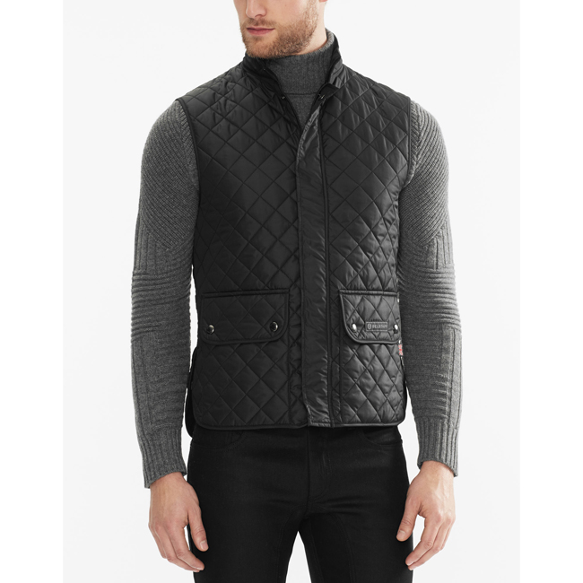 Belstaff QUILTED WAISTCOAT Men BLACK Outlet Store
