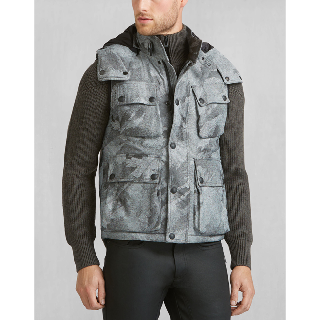 Belstaff WESTERLAND VEST Men LIGHT GREY Outlet Store