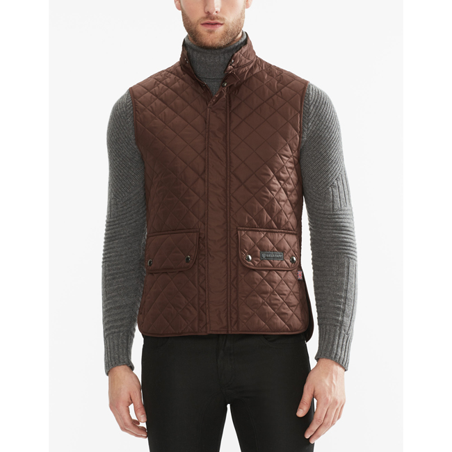 Belstaff QUILTED WAISTCOAT Men UMBER Outlet Store
