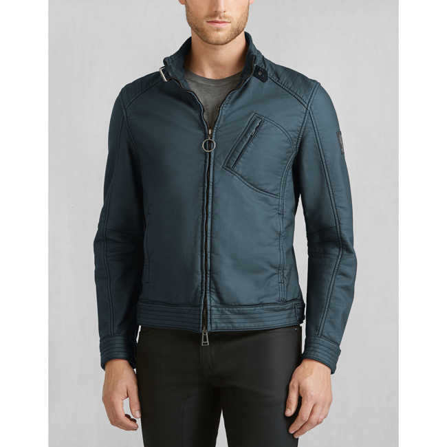 Belstaff H RACER JACKET Men DENIM BLUE Outlet Store