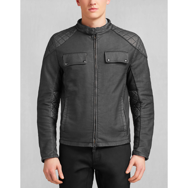 Belstaff XMAN RACING BLOUSON Men BLACK Outlet Store