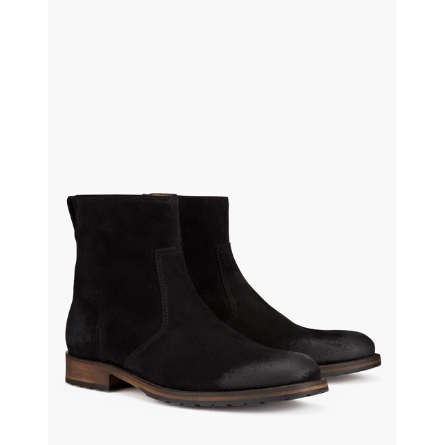 Belstaff ATTWELL SHORT BOOTS Men BLACK Outlet Store