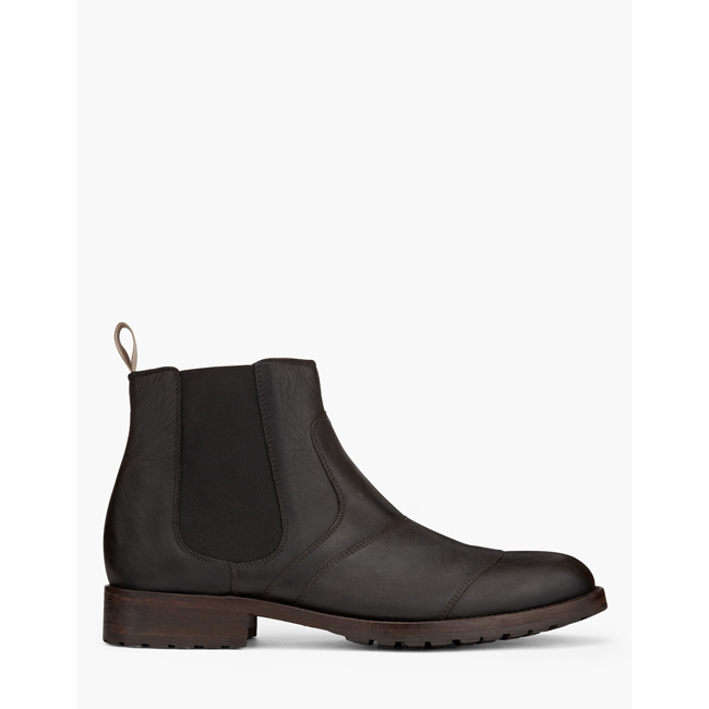 Belstaff LANCASTER SHORT BOOTS Men BLACK Outlet Store