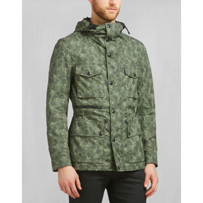 Belstaff ABERFORD PRINTED JACKET Men PALE MILITARY Outlet Store