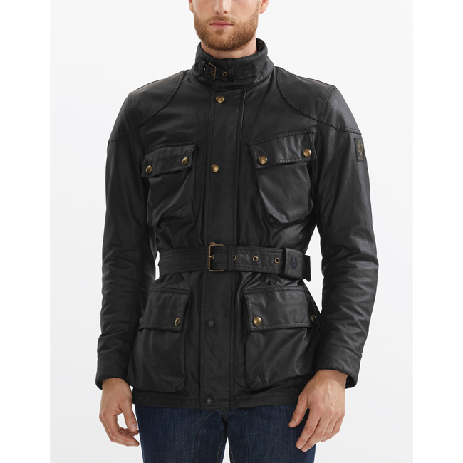 Belstaff CLASSIC TOURIST TROPHY 4-POCKET MOTORCYCLE JACKET Men BLACK Outlet Store