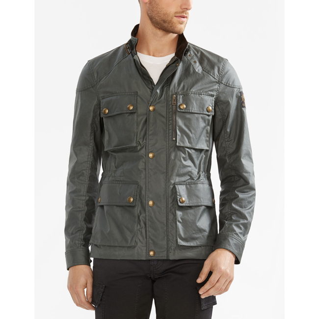 Belstaff TRIALMASTER JACKET Men ASH GREEN Outlet Store