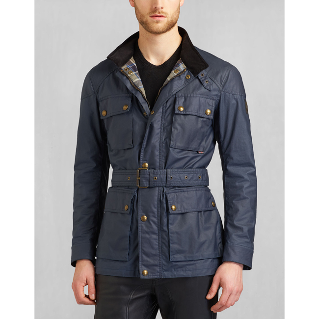 Belstaff THE ROADMASTER JACKET Men NAVY BLUE Outlet Store