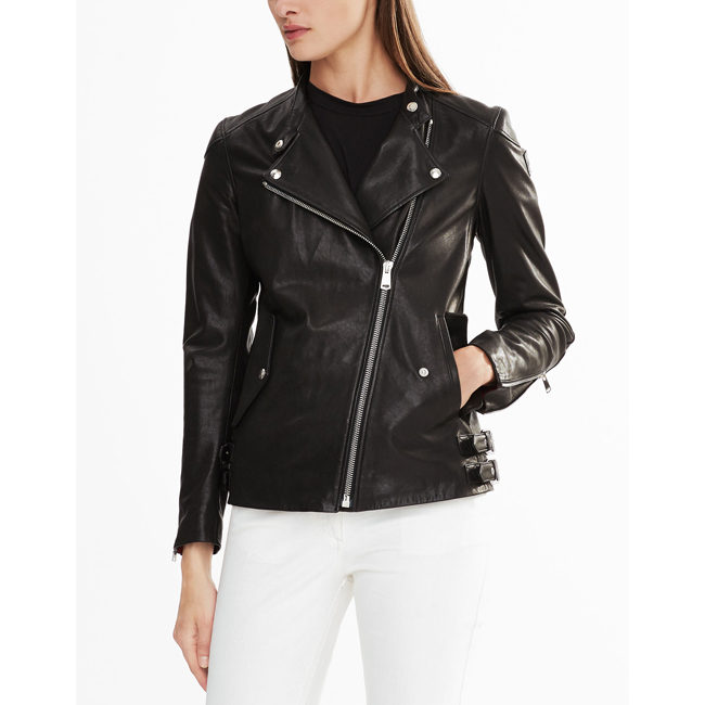 Belstaff BURNETT BIKER JACKET Women BLACK Outlet Store