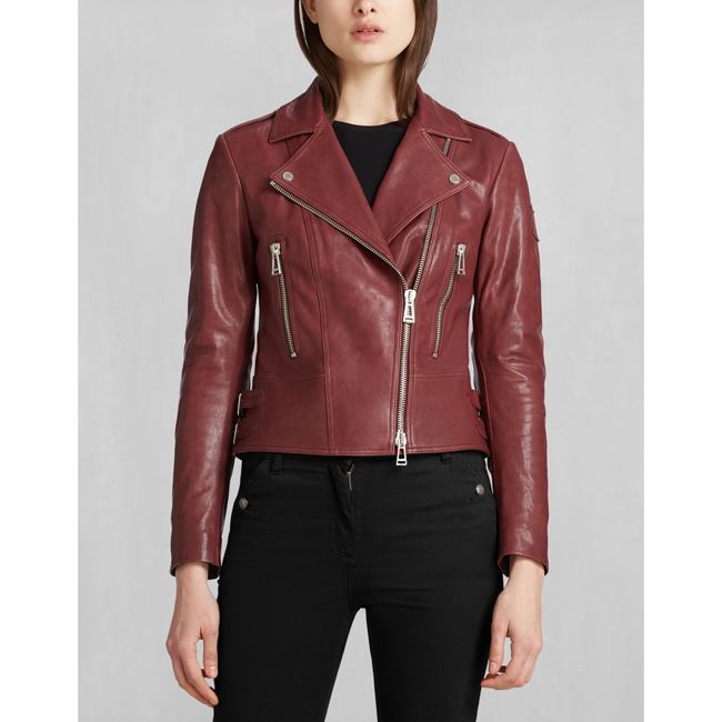 Belstaff MARVING-T BLOUSON Women CLARET Outlet Store