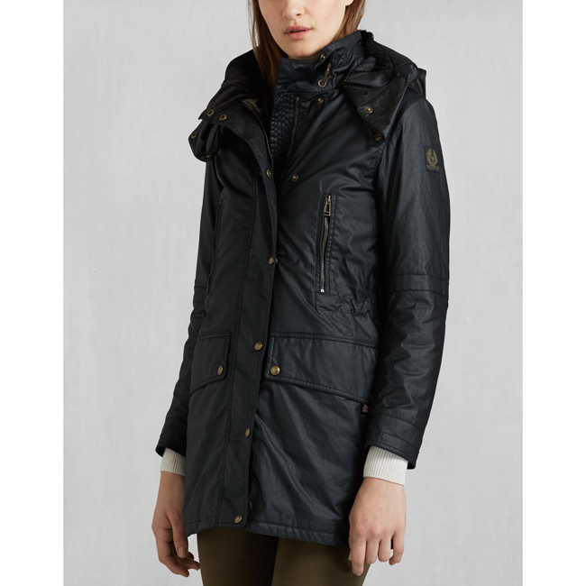 Belstaff CT MASTER LUXE PARKA Women BLACK Outlet Store